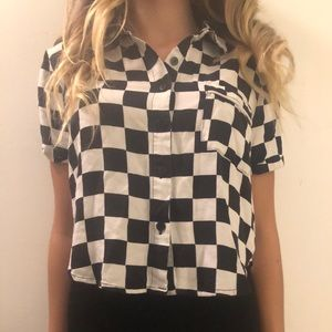 Forever 21 checkered shirt size small